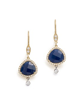 Meira T - 14K White & Yellow Gold Sapphire & Diamond Charm Earrings