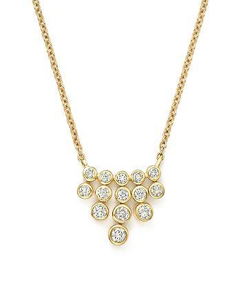 Bloomingdale's - Diamond Bezel Fringe Pendant Necklace in 14K Yellow Gold, .25 ct. t.w. - 100% Exclusive