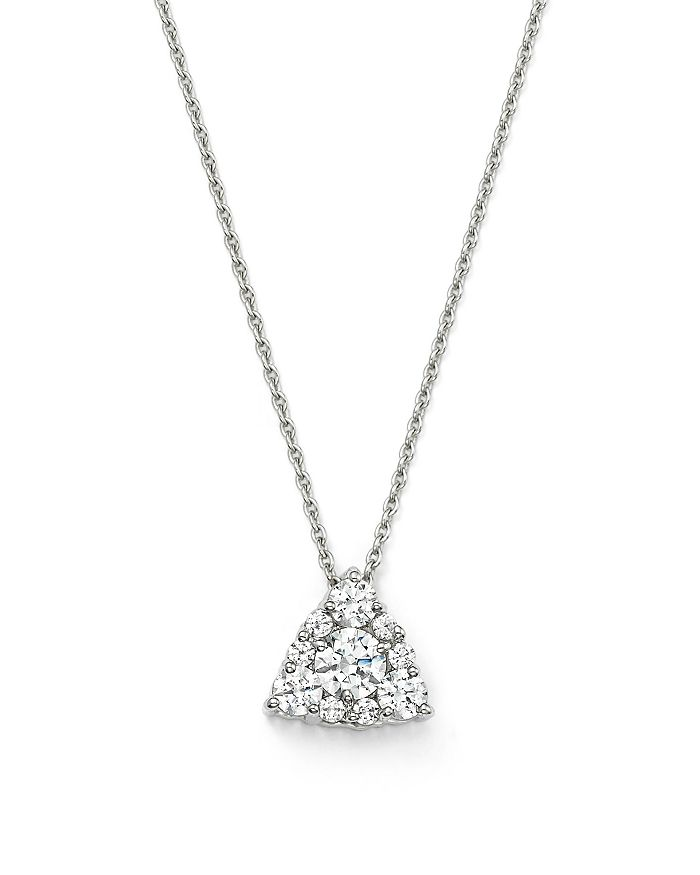 """Bloomingdale's - Diamond Cluster Pendant Necklace in 14K White Gold, .25 ct. t.w, 18"""" - 100% Exclusive"""