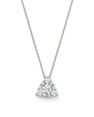 Bloomingdale's Diamond Cluster Pendant Necklace in 14K White Gold, .25 ct. t.w, 18 - 100% Exclusive