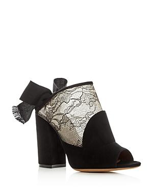 Tabitha Simmons Women's Regina Suede & Lace Block Heel Sandals