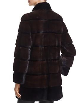 Maximilian Furs - Stand Collar Kopenhagen Mink Fur Coat - 100% Exclusive