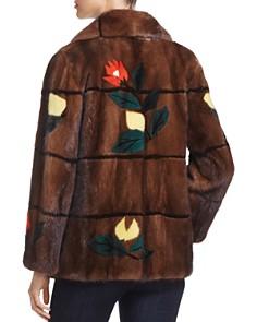 Maximilian Furs - Floral Intarsia Kopenhagen Mink Fur Coat - 100% Exclusive