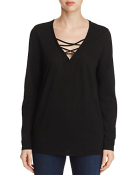Michael Stars - Crisscross V-Neck Top