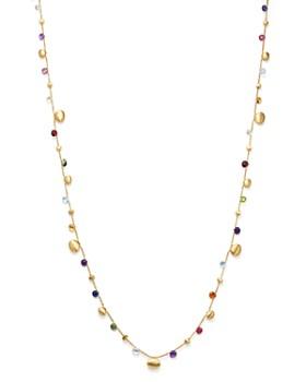 "Marco Bicego - 18K Yellow Gold Paradise Teardrop Long Gemstone Necklace, 34"""