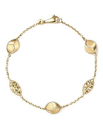 Bloomingdale's - Pepita Beaded Bracelet in 14K White & Yellow Gold - 100% Exclusive