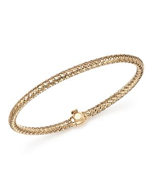 Bloomingdale's Basket Weave Bangle in 14K Yellow Gold - 100% Exclusive