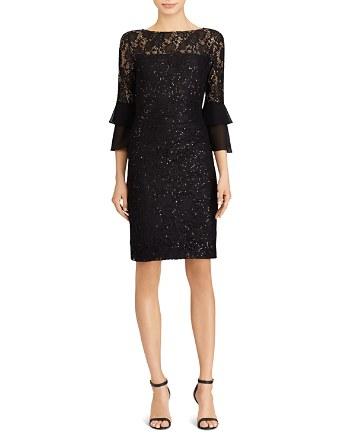 $Lauren Ralph Lauren Sequin Lace Dress - Bloomingdale's