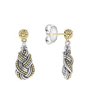 Lagos 18K Gold & Sterling Silver Torsade Drop Earrinsgs