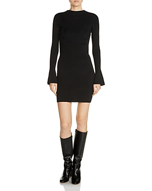 Maje Robinson Ribbed Sweater Dress