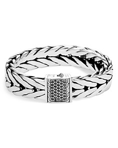 John Hardy Sterling Silver Modern Chain Extra Large Bracelet with Black Sapphire, 16mm - Bloomingdale's_0