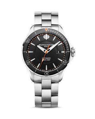 BAUME & MERCIER Clifton Automatic Bracelet Watch, 42Mm in Black/ Silver