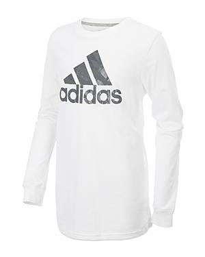 Adidas Boys PrintedLogo LongSleeve Tee  Little Kid