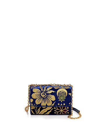 Tory Burch - Fleming Floral Convertible Small Shoulder Bag