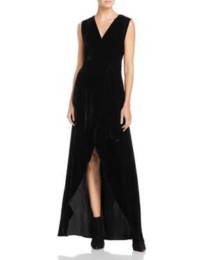 Alice + Olivia Simmons Velvet Wrap Dress
