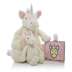 Jellycat - Bashful Unicorn & If I Were a Unicorn Book - Ages 0+