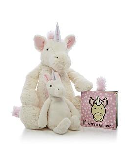 Jellycat - Bashful Unicorn & If I Were a Unicorn Book - Ages 0+