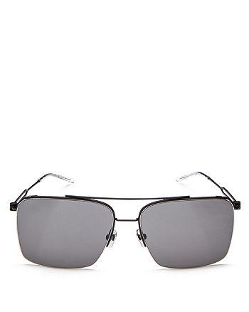 Calvin Klein 205W39NYC - Men's Rectangle Aviator Sunglasses, 57mm