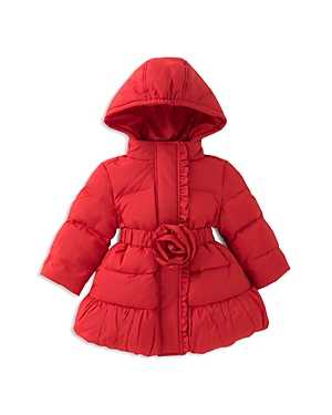 kate spade new york Girls' Rosette Puffer Coat - Baby