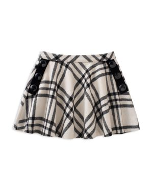 kate spade new york Girls' Plaid Skirt with Button Details - Big Kid thumbnail