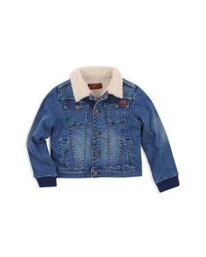 7 For All Mankind Boys' Sherpa-Lined Denim Jacket - Little Kid thumbnail
