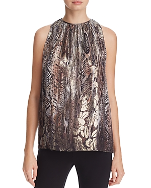 Elie Tahari Gigi Sleeveless Metallic Blouse