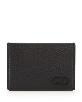 Salvatore Ferragamo - Firenze Pebbled Leather Card Case