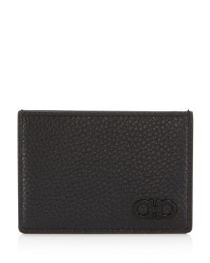 Salvatore Ferragamo Firenze Pebbled Leather Card Case