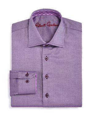 Robert Graham Boys' Dotted Dress Shirt - Big Kid