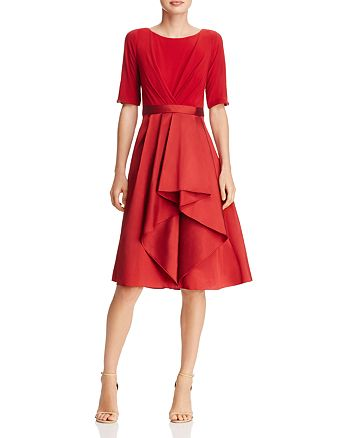 Adrianna Papell - Taffeta-Skirt Dress