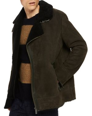 Scotch & Soda Leather Shearling Jacket