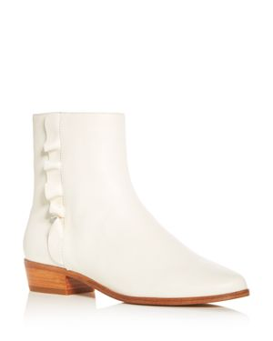 Joie Women's Laleh Ruffle Leather Booties