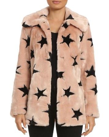 $Avec Les Filles Star Faux Fur Coat - Bloomingdale's