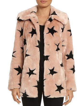 Avec Les Filles - Star Faux Fur Coat