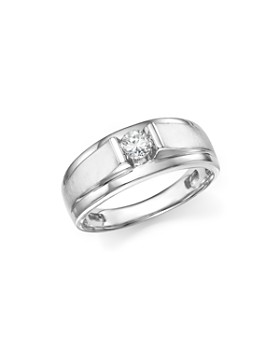 Bloomingdale's - Diamond Men's Ring in 14K White Gold, .33 ct. t.w. - 100% Exclusive