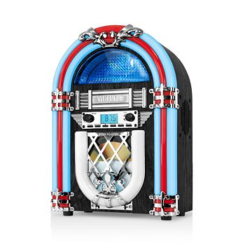 Innovative Technology - Victrola NostalgicWood Countertop Jukebox with Built-in Bluetooth and CD Player