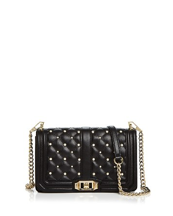 $Rebecca Minkoff Love Faux-Pearl Leather Crossbody - Bloomingdale's
