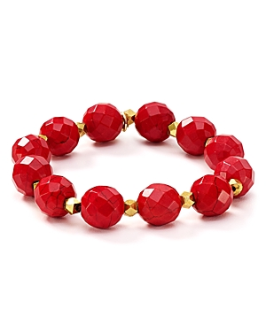 Bourbon & Boweties Faceted Stretch Bracelet