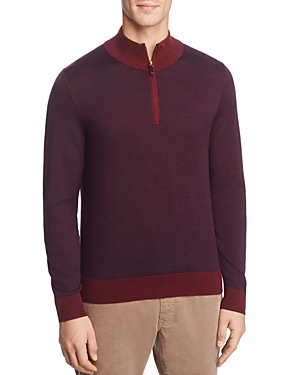 Brooks Brothers Birdseye Half-Zip Sweater