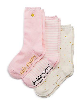 Kate Spade New York Bridesmaid Mid Calf Socks Set Of 3 Bloomingdales