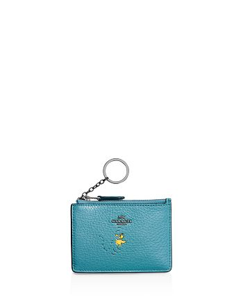 COACH - Peanuts Boxed Mini Skinny ID Case in Refined Natural Pebble Leather with Snoopy