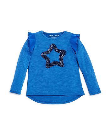 Design History - Girls' Polka-Dotted-Star Tee - Little Kid