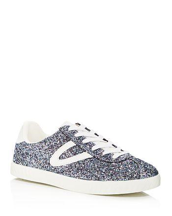 Tretorn Women's Camden Glitter Lace Up Sneakers | Bloomingdale's