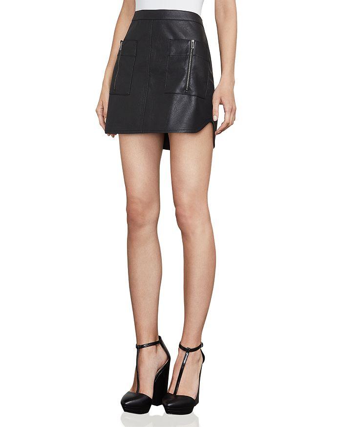 BCBGMAXAZRIA - Sabina Faux-Leather Mini Skirt