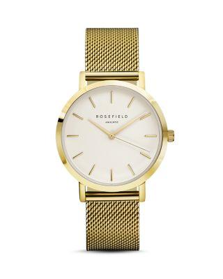 Mercer Mesh Strap Watch, 38Mm in Gold/ White/ Gold
