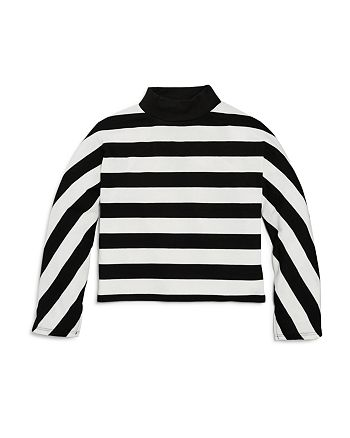 Splendid - Girls' Striped Mockneck Top - Big Kid