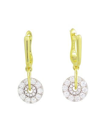 Frederic Sage - 18K White & Yellow Gold Spinning Diamond Cluster  Earrings