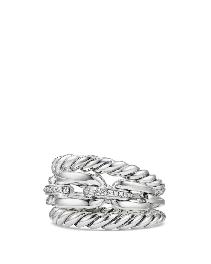 David Yurman Wellesley Three Row Ring with Diamonds    Bloomingdale's