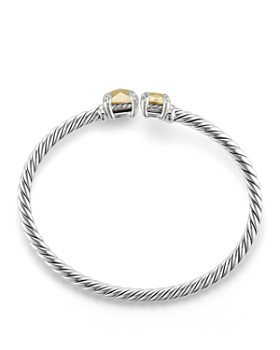 David Yurman - Châtelaine Bypass Bracelet with 18K Gold and Diamonds