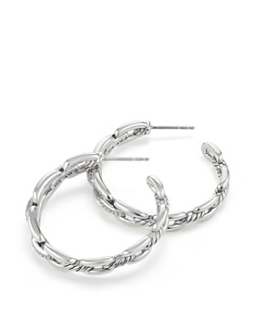 David Yurman - Wellesley Hoop Earrings with Diamonds